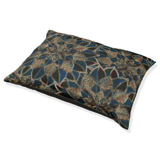 Dog Bed Abstract Floral Design