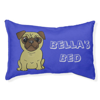 Dog Bed for The Pug in your life! Personalize Name