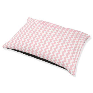Dog Bed Pink and White Geometrics