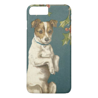Dog Begging Holly Christmas Greetings iPhone 7 Plus Case