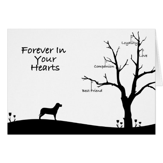 Dog Bereavement Sympathy Card