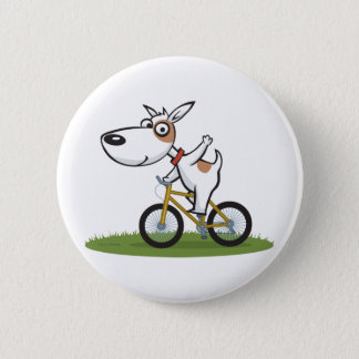Dog Biker 6 Cm Round Badge