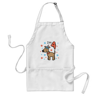 Dog Birthday Four Standard Apron