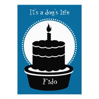 Dog Birthday Invitation - Dog s Life Paw-ty