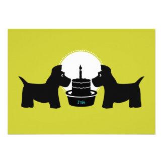 Dog Birthday Invitation - Its a Paw-ty
