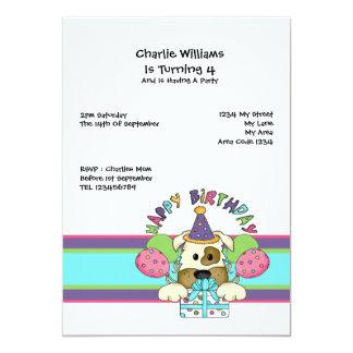 Dog Birthday Party 13 Cm X 18 Cm Invitation Card