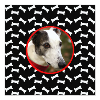 Dog Birthday Party  Custom Photo 13 Cm X 13 Cm Square Invitation Card