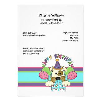 Dog Birthday Party Personalized Invites