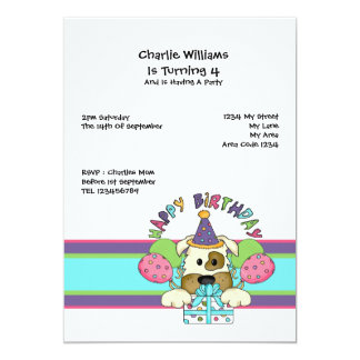 Dog Birthday Party Personalized Invites
