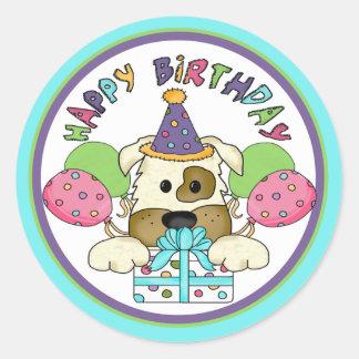 Dog Birthday Round Sticker