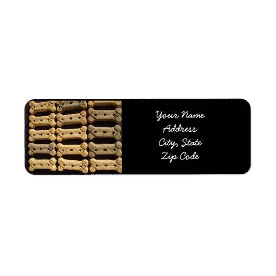 Dog biscuits address labels