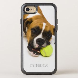 Dog biting tennis ball OtterBox symmetry iPhone 8/7 case