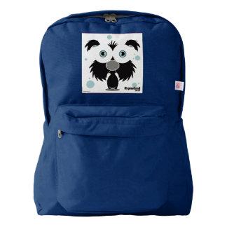 Dog(Black) Backpack, Navy Backpack