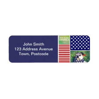 Dog Bless America Patriotic