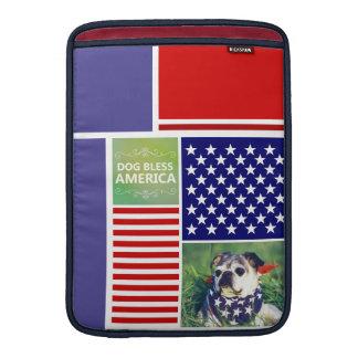 Dog Bless America Patriotic MacBook Sleeve
