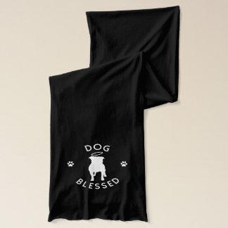 """""""Dog Blessed"""" Pit Bull Angel Fashion Scarf, Dark Scarf"""