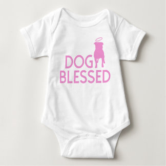"""Dog Blessed"" Pit Bull Angel Infant Creeper"