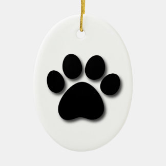 Dog Bone and Paw Pet Themed Gift Z33 Ceramic Oval Decoration
