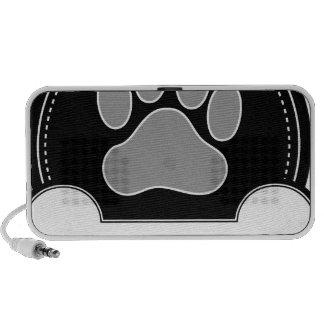 Dog Bone and Paw Notebook Speaker