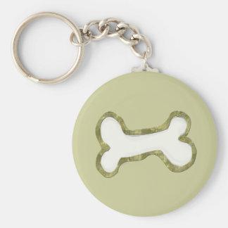 Dog Bone Art Gifts Basic Round Button Key Ring