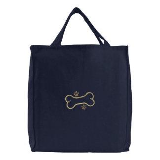 Dog Bone Border Canvas Bags