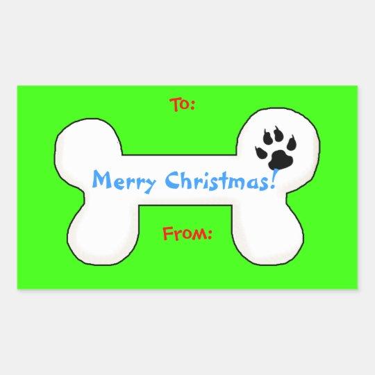 Dog Bone Christmas Fun Gift Tag