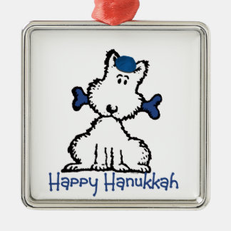 dog & bone hanukkah christmas ornament