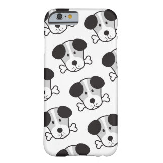 Dog & Bone Pattern (Cockney Rhyming Slang) B&W Barely There iPhone 6 Case