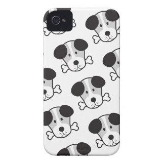 Dog & Bone Pattern (Cockney Rhyming Slang) B&W iPhone 4 Covers