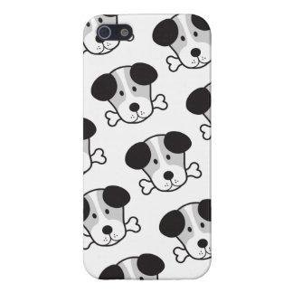 Dog & Bone Pattern (Cockney Rhyming Slang) B&W iPhone 5/5S Cases