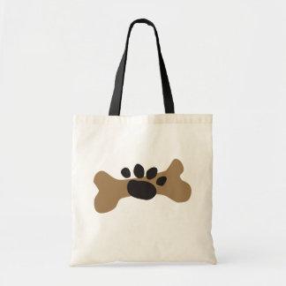 Dog Bone & Paw Print Budget Tote Bag