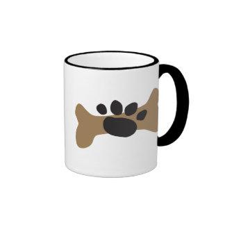 Dog Bone & Paw Print Coffee Mugs