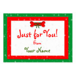 Dog Bone Personalised Christmas Gift Tags Business Cards