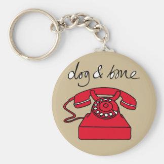 Dog & Bone Telephone Cockney Rhyming Slang Keyring