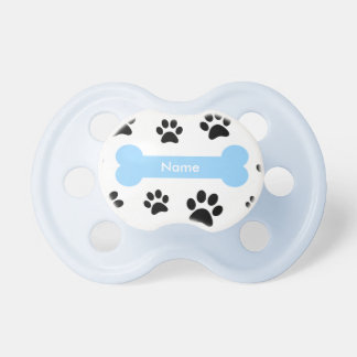 Dog Bone with Paw Prints Baby Pacifier