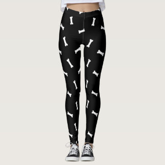 Dog Bones Black and White Leggings