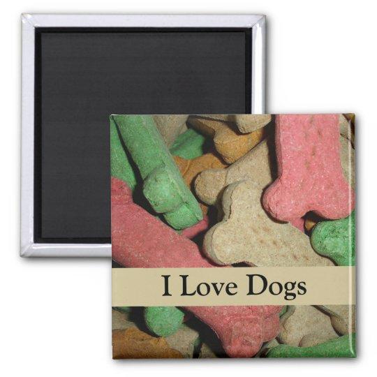 Dog Bones Square Magnet