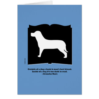 Dog Book Groucho Quote Card