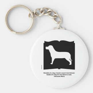 Dog Book Groucho Quote Keychains