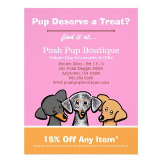 Dog Boutique Shop Three Pups Pink Coupon Ad 21.5 Cm X 28 Cm Flyer
