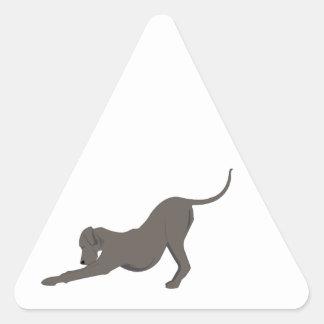 Dog Bow Triangle Sticker