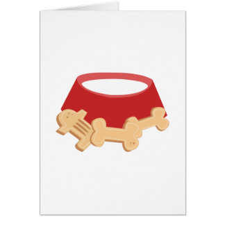 Dog Bowl Greeting Card