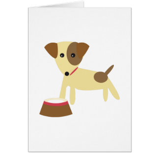 Dog & Bowl Cards