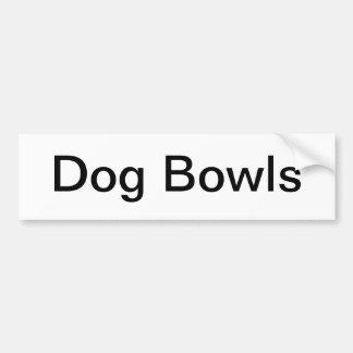 Dog Bowls Sign/ Bumper Sticker