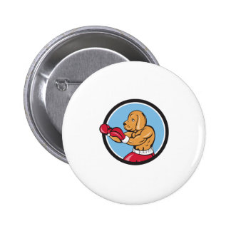 Dog Boxer Fighting Stance Circle Cartoon 6 Cm Round Badge