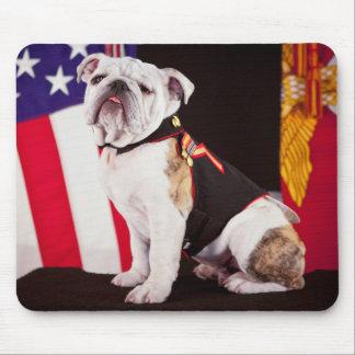 dog bulldog Navy official mascot Mouse Pad