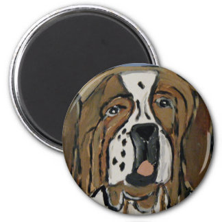dog by eric ginsburg 6 cm round magnet