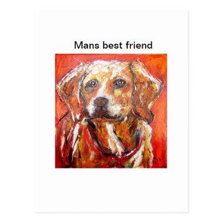Dog by pixi-art.com postcard