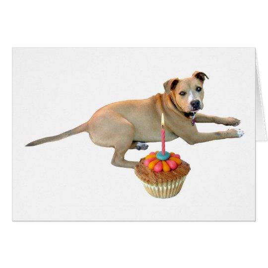 Dog Cake Birthday Card