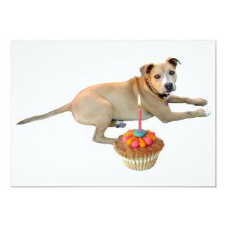 Dog Cake Birthday Invitation